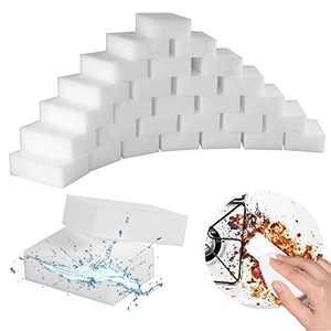Magic Cleaning Sponges Eraser, 100 Pack Premium Melamine Sponge Foam Cleaning Pads, Dish Sponges, Household Cleaning Sponge for Kitchen, Bathroom,Furniture, Floor Wall Cleaner
