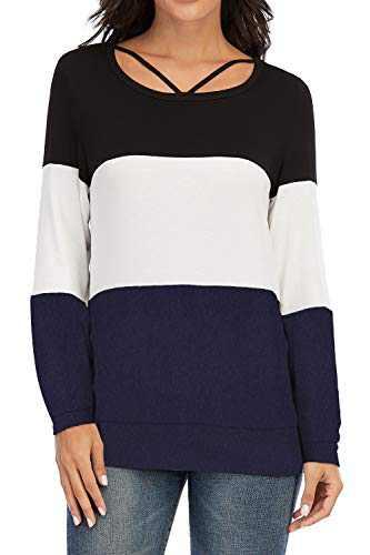 Casual Tunics, VZULY Women's Plus Size Fashion Trendy 2020 Dailywear Shirts Tops Dark Blue M
