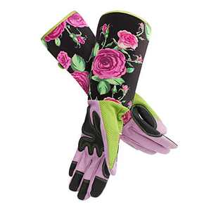 Long Gardening Gloves Women, ENPOINT Professional Rose Pruning Thorn Resistant Gloves For Gardening, Elbow Length Garden Gloves For Gardener Puncture Resistant, Black