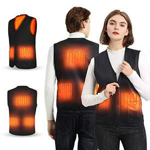 GEXMILD Heated Vest Warmer Jackets for Men Women Warming Lightweight Heated Vest for Outdoors, Not Included Battery