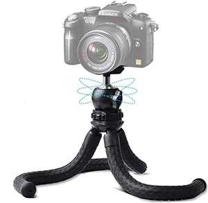 BEIYANG Phone Tripod,Flexible Tripod for iPhone with Extendable Phone Holder for Video Recording for YouTube Video Compatible with All Phones/Cameras IPhone 7 Plus, IPhone XS Max, GoPro, IPhone 12 Pro