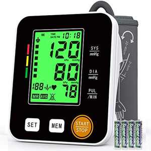 Blood Pressure Monitor Upper Arm, Annsky Blood Pressure Machines for Home Use with Pulse Rate Detection Meter, Backlit Screen 22-40cm Cuff 2x99 Sets Memory