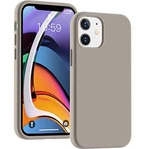 Cucell Compatible with iPhone 12 Mini case 5.4 inch(2020),Liquid Silicone Gel Rubber Full Body Protection Cover Shockproof Durable Drop Proof Shell-Stone