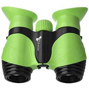 Binoculars for Kids, Gifts for 3-10 Years Boys Girls 8x21 High-Resolution Optics Shockproof Folding Mini Binoculars Toys for Bird Watching Nature Explore Travel Camping Outdoor Play (Green)