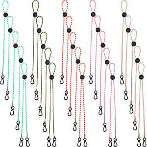 25 Pieces Face Covering Lanyards, Adjustable Length Face Bandanas Lanyard, Comfortable Around The Neck Face Protection Rest, Multiple Colors