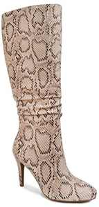 Sugar Womens Stealth Dress Boot with Pointed Heel and Srunch 6.5 Snake