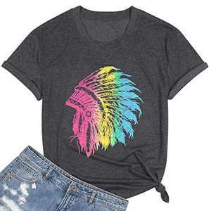 MNLYBABY Good Vibes Women Tshirt Sun Graphic Casual Letter Print Short Sleeve Women Tee Tops (Black, Medium)