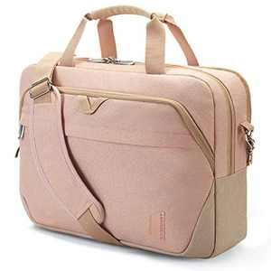 Laptop Bag,BAGSMART 15.6 Inch Women Briefcase Large Computer Bag Lockable,Pink