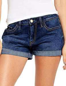 onlypuff Distressed Denim Shorts High Rise Blue Jean Shorts for Women Summer Cute Short S