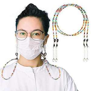 Mask Glasses Lanyard Strap Eyeglass Chain Unisex Mask Strap, Anti-lost Mask Leash, Suitable for men, women, children, elderly 21.6inch 2 Pack