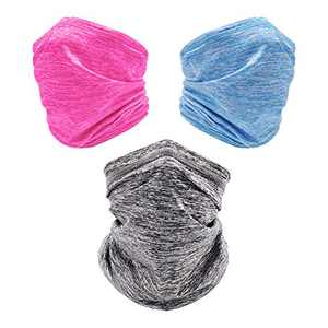 3 Pcs Neck Gaiter, Breathable Windproof Face Cover for Cold Weather, Ideal for Skiing Riding Running & Hiking