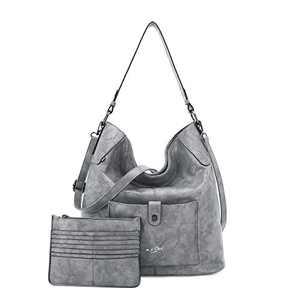 Women Shoulder Handbag Purse Top-Handle Hobo Roomy Casua Ladies' Shoulder Bag Fashion PU Tote Satchel Bag for Women (C-KL5208#687#5GREY)