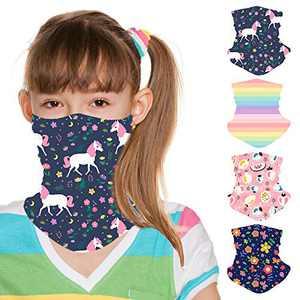 ZukoCert Kids Neck Gaiter Cycling Outdoor Girls Boys Face Scarf Balaclava Dust-Proof Kids Face Cover Kids Bandanas(F)
