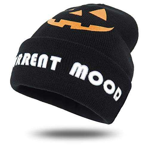Halloween Costume Funny Knit Beanie Cuffed Plain Skull Knit Hat Cap Ugly Holiday Warm Snow Caps Funny Party Beanie Hats