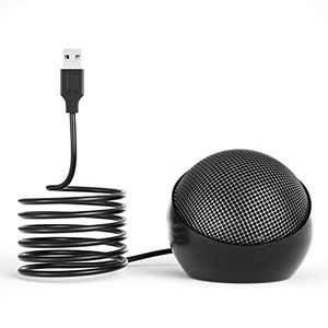 360°Omnidirectional USB Conference Microphone for Computer, Condenser PC, for Desktop/Laptop/Tablet, Ideal for Conference,Meeting,Gaming,VoIP Calls,Skype