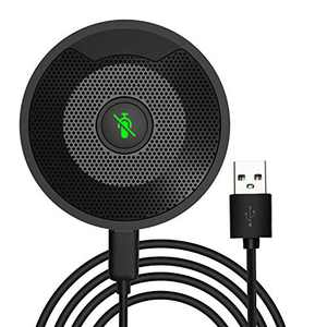 USB Conference Microphone, 360° Omnidirectional Condenser PC Computer Microphones with Mute, Plug & Play Compatible with Mac OS X Windows for Video Meeting,Gaming,Chatting,Skype,VoIP Calls