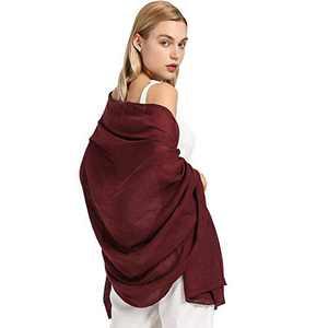 AMELIE GALANTI Cotton Scarf for Women Lightweight Shawl Soft Scarf Fashion Solid Scarf Wrap Shawl (wine1)