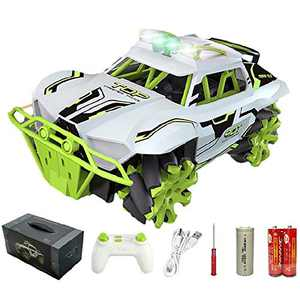 MAXSOO Remote Control Car, Fast Speed RC Truck Vehicle 1:16 Scale 4WD 2.4GHz 1200mAh 30+Km/h 30+Min 360°Rotating Terrain Off Road Rock Crawler Stunt Racing Gifts for 6+ Boys Toddlers Teenagers
