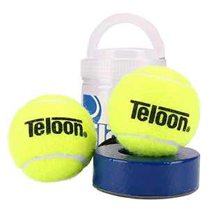 Teloon springen Tennis Trainer Rebound Ball Iron Base Tennis Training Tool,2.35LB Weight Heavy with 2PCS Replaceable String Self-Study Rebound Ball Baseboard Sparring Device