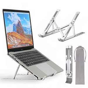 Neekor Portable Laptop Stand, Aluminium Alloy Adjustable Height Laptop Computer Stands, Ergonomic Foldable Desktop Holder,...