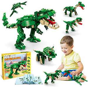 HOMOFY STEM Building Dinosaur Toys for Kids,6 in 1Coordination Dinosaur Building Blocks Toys for Kids Boys and Girls Age 8-12 Year Old Gifts,Dinosaur Toys Building Bricks Set 673 Pcs