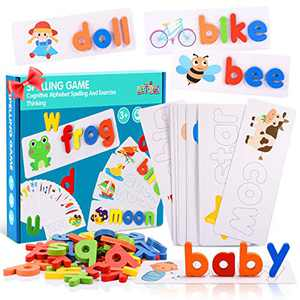 LET'S GO! Fun Toys for Boys Girls Kids Age 3-5, See and Spell Learning Toys ABC Sight Words Matching Letter Games Preschool Toys Birthday Gifts for Girls Boys Kids Toddlers Age 2-5