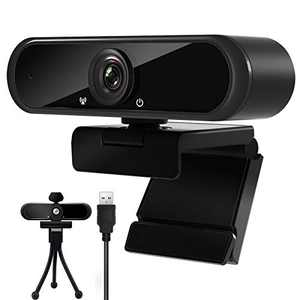 2K Webcam with Microphone, High-Definition PC Camera for Desktop, Plug-and-Play Computer Laptop USB Web Cam for Video Call Recording Meetings, with Privacy Cover and Tripod