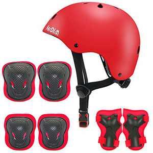 Kids Bike Helmet Adjustable for Ages 3-9 Toddler Boys Girls, Protective Gear Set Knee Elbow Pads Wrist Guards for Skateboard, Bike, Skate, Scooter, Roller Skating, Cycling, Rollerblade, CPSC Certified