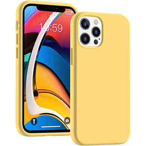 Cucell Compatible with iPhone 12 Case iPhone 12 Pro Cases 6.1 inch(2020),Liquid Silicone Gel Rubber Full Body Protection Shockproof Durable Drop Proof -Yellow