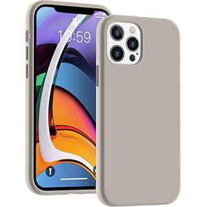 Cucell Compatible with iPhone 12 Case iPhone 12 Pro Cases 6.1 inch(2020),Liquid Silicone Gel Rubber Full Body Protection Shockproof Durable Drop Proof -Stone