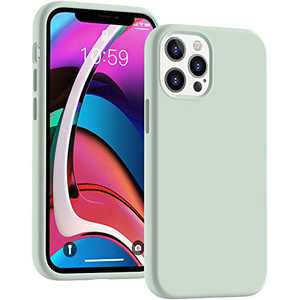 Cucell Compatible with iPhone 12 Case iPhone 12 Pro Cases 6.1 inch(2020),Liquid Silicone Gel Rubber Full Body Protection Shockproof Durable Drop Proof -Mint Green