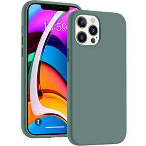 Cucell Compatible with iPhone 12 Case (2020),12 Pro Cases 6.1 inch(2020),Liquid Silicone Gel Rubber Full Body Protection Cover Shockproof Durable Drop Proof Shell-Pine Green
