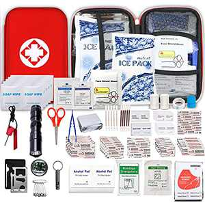 Small-Waterproof Car First-Aid Kit Emergency-Kit - 190 Piece Camping Safety Survival Equipment for Camping Hiking Home Travel YIDERBO