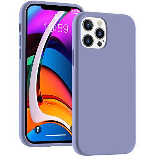 Cucell Compatible with iPhone 12 Case iPhone 12 Pro Cases 6.1 inch(2020),Liquid Silicone Gel Rubber Full Body Protection Shockproof Durable Drop Proof -Lavender Purple