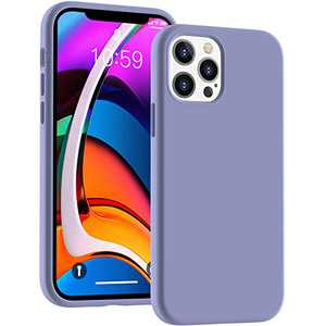 Cucell Compatible with iPhone 12 Case (2020),12 Pro Cases 6.1 inch(2020),Liquid Silicone Gel Rubber Full Body Protection Cover Shockproof Durable Drop Proof Shell-Lavender Purple