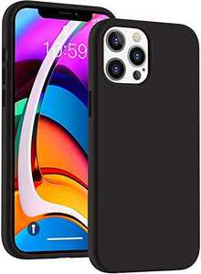 Cucell Compatible with iPhone 12 Case iPhone 12 Pro Cases 6.1 inch(2020),Liquid Silicone Gel Rubber Full Body Protection Shockproof Durable Drop Proof -Black