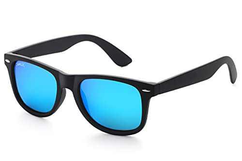 Retro Classic Rectangle Polarized Sunglasses for Men Women