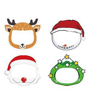 Non-medical Outdoor Kids Christmas Face Shield Glasses Style Clear Visor Transparent Anti-Fog Layer Anti Dust Halloween Face Shields Cover Mask with Band,Cute Reusable Durable./chr 4pcs