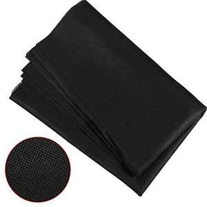 2 Pieces 63 x 39 Inch Non-Woven Fabric Filter Disposable, Resistance Non-Woven Interfacing Fabric Lightweight Polyester for Handwork DIY Craft (Black)