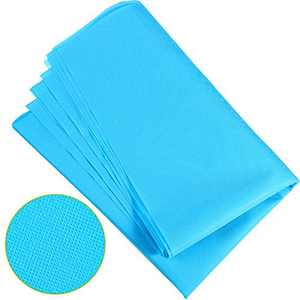 2 Pieces 63 x 39 Inch Non-Woven Fabric Filter Disposable, Resistance Non-Woven Interfacing Fabric Lightweight Polyester for Handwork DIY Craft (Blue)