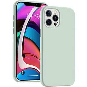 Cucell Compatible with iPhone 12 Pro Max Case 6.7 inch(2020),Liquid Silicone Gel Rubber Full Body Protection Cover Shockproof Durable Drop Proof Shell-Mint Green