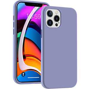 Cucell Compatible with iPhone 12 Pro Max Case 6.7 inch(2020),Liquid Silicone Gel Rubber Full Body Protection Cover Shockproof Durable Drop Proof Shell-Lavender Purple