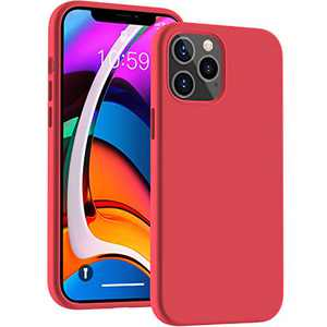 Cucell Compatible with iPhone 12 Pro Max Case 6.7 inch(2020),Liquid Silicone Gel Rubber Full Body Protection Cover Shockproof Durable Drop Proof Shell-Red