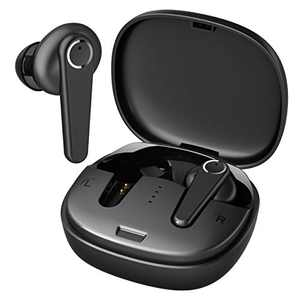 Klaustory G07 Bluetooth Wireless Earbuds, IPX7 Waterproof, 44g Lightweight, Slim Charging Case, Active Noise Cancellation, One-Step Pairing, HiFi Sound, for Home Office and Workouts (Black)