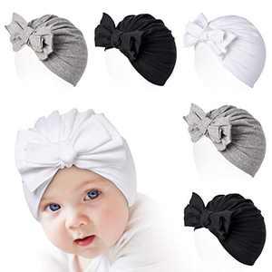 Momcozy Baby Turban Hat, Newborn Hats 5 PCS for Girls Infant Headwraps Cotton Soft Cute Bow Cap