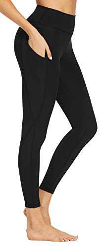 Ronanemon Yoga Pants with Pockets Leggings with Pockets for Women High Waist Yoga Tights Workout Pants Yoga Leggings