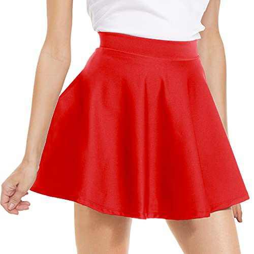 NexiEpoch Women's Versatile Stretchy Flared Pleated Skirt - High Waisted Casual Mini Skater Skirt