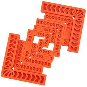 """Neoteck Positioning Squares, Set of 10(3"""" 4"""" 6""""), 90 Degree Corner Clamp Woodworking Tools for Picture Frames, Boxes, Cabinets or Drawers, Carpenter Square Tool"""