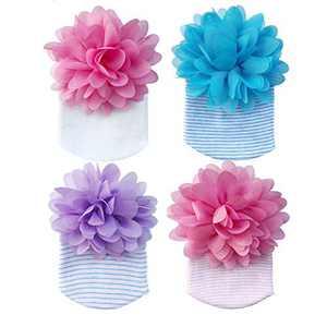 Newborn Baby Hat Baby Hospital Hats Infant Nursery Beanie Hat Soft Big Bow Head Wrap