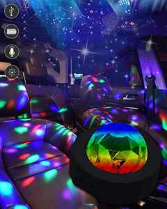 KITASST Interior Car Ambient Lights Led Disco Ball Light, Portable USB DJ Atmosphere Lighting with Sound-Activated Mode for RV Car Room Dance Stage Parties Birthday DJ Bar Club Pub